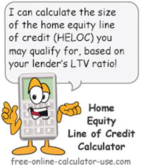 heloc calculator to calculate maximum home equity line of