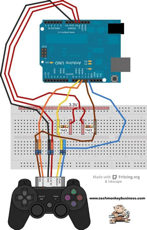 connecting  ps controller   arduino techgadgets