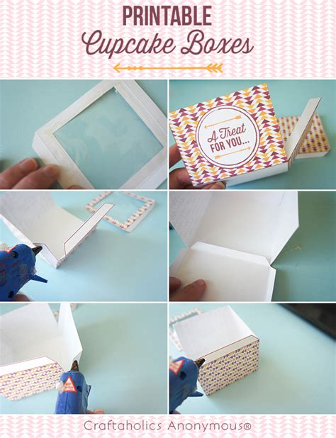 How To Make A Cupcake Box Out Of Paper - craftaholics anonymous 174 printable cupcake boxes
