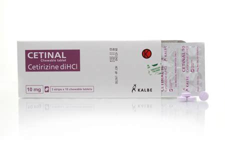 Obat Cetirizine Dihcl cetinal 10mg