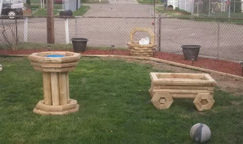 planters landscaping timber projects pinterest