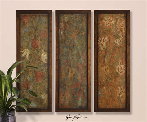 Uttermost Panels uttermost damask panels s 3 50958 wall homethangs artwork by homethangs