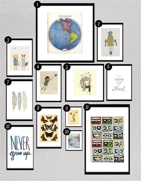 printable art gallery wall roundup free printables for gallery walls little gold pixel