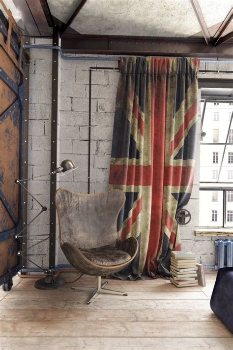 union jack drapes 2 loft ideas for the creative artist