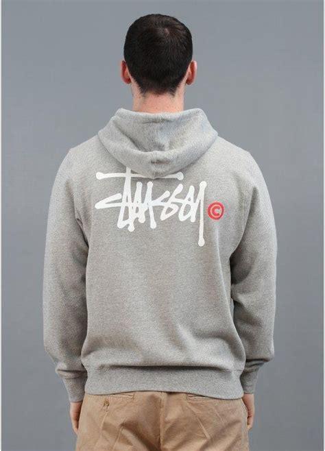 Hoodie Jumper Project You Logos stussy basic logo zip hoody grey triads