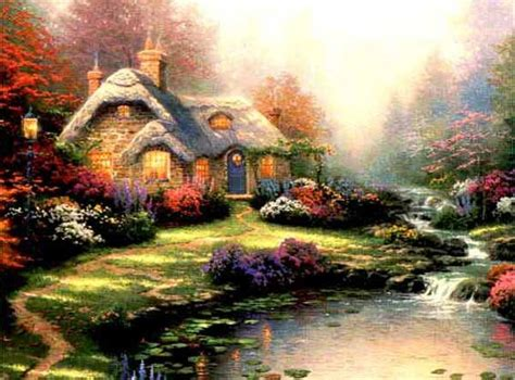 kinkade cottage painting kinkade cottage painting all things