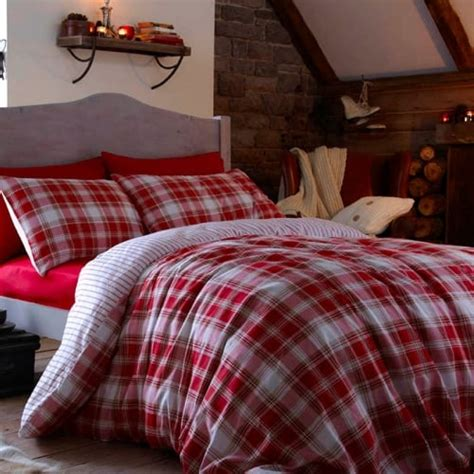 tartan bed linen catherine lansfield quot tartan quot checked pillowcases