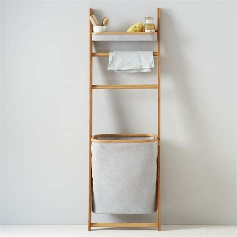 Modern Bathroom Shelves Bamboo Leaning Bath Shelf Contemporary Bathroom Cabinets And Shelves By West Elm