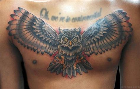 tattoo owl wings 81 alluring wings tattoo on chest