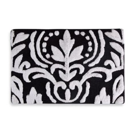 Black And White Bathroom Rugs Buy Black Bath Rug From Bed Bath Beyond