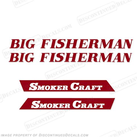 big boat decals smoker craft quot big fisherman quot boat logo decal package