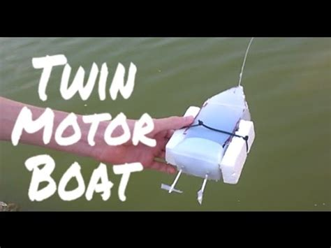 how to make a rc boat youtube how to make a twin motor rc boat youtube