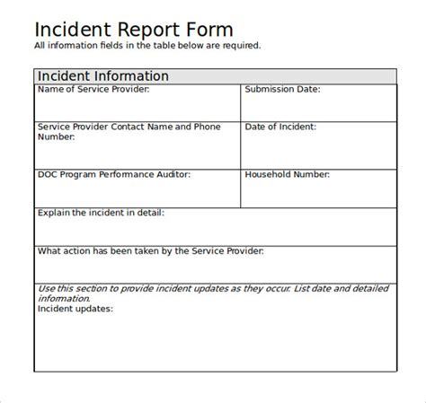 hr incident report template sle employee incident report template 10 free