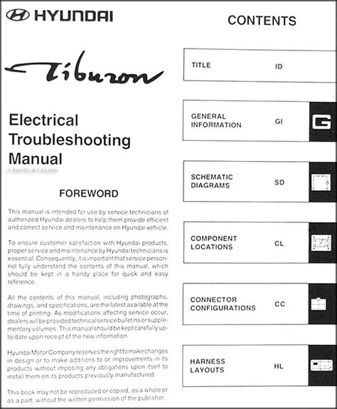 download car manuals 2001 hyundai tiburon auto manual 2001 hyundai tiburon electrical troubleshooting manual original