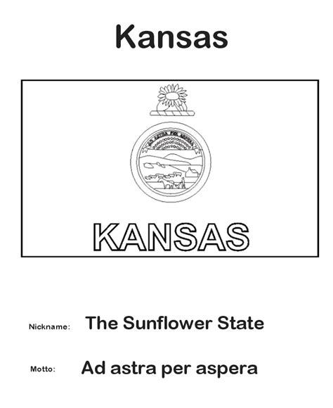 kansas state flag coloring page coloring us history