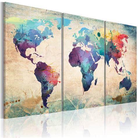 road layout en français schilderij de wereld geschilderd met aquarellen karo