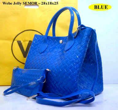 New Webe Maribel 089 new webe jelly semor set dompet blue cantik bgt tas