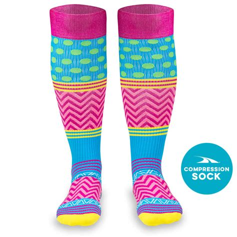 for color compression knee high socks for a run