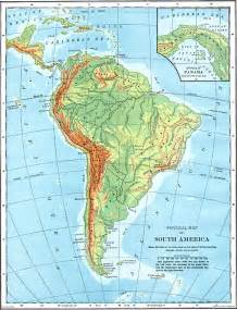 physical feature map of south america physical map of south america