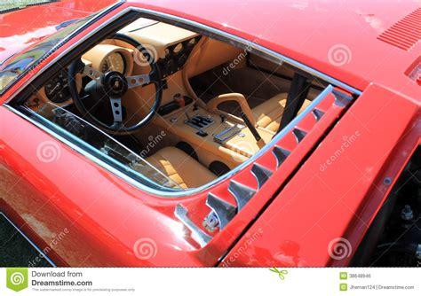 classic lamborghini interior classic lamborghini cockpit interior editorial image