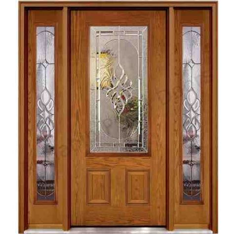 wooden door with glass and glass sides hpd482 glass