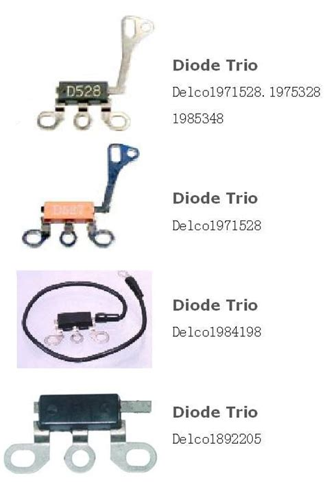what is a diode trio used for what is a diode trio used for 28 images standard 174 buick regal 1986 alternator diode trio
