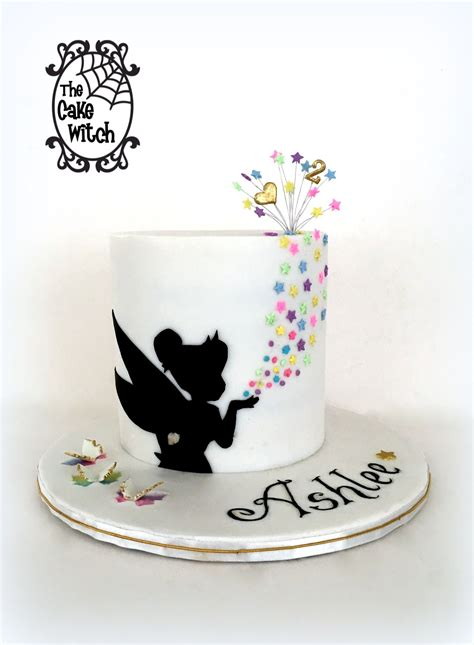 Tinkerbell Silhouette Ander Ies Cake The Cake