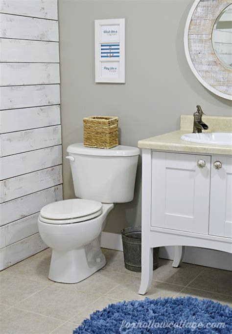 nautical bathrooms nod to nautical bathroom makeover reveal fox hollow cottage