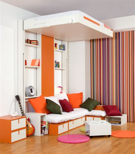 space saving furniture ideas loft bedroom interiors