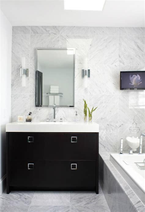 Black And White Bathroom Vanity Black Bathroom Vanity White Countertop Design Ideas