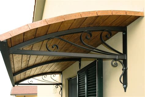 copertura porta ingresso pensilina in ferro