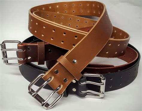 holed leather belt 1 25 inches wide leather belts usa