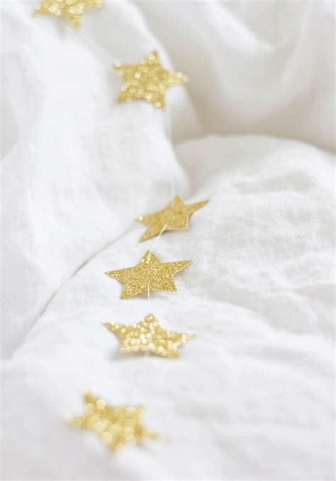 glitter star garland christmas pinterest
