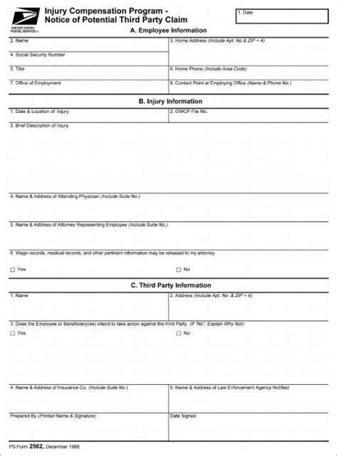 personal injury claim form template images templates