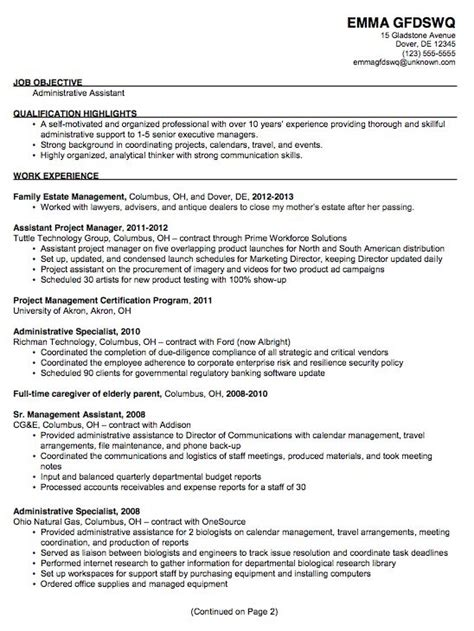 functional resume for administrative assistant best resume gallery
