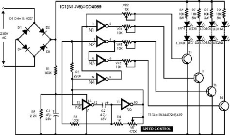 flashy light circuit schematic cd4069ub circuit diagram