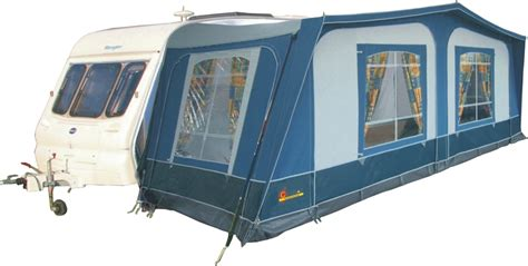 caravan with awning pyramid tuscany caravan awning with steel frame caravan