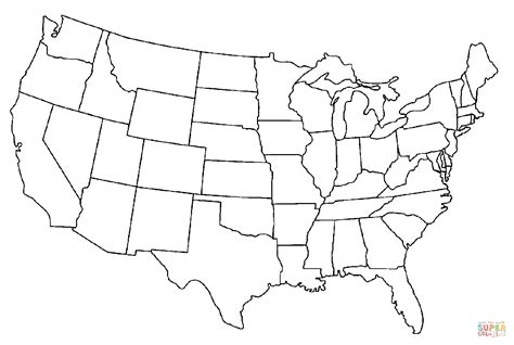 colored united states map coloring pages of usa flag