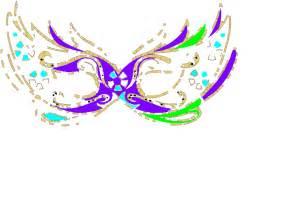 purple blue green masquerade mask fnc clip art vector