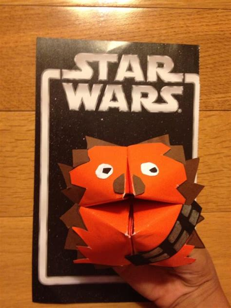 Origami Wookie - fortune wookie origami yoda