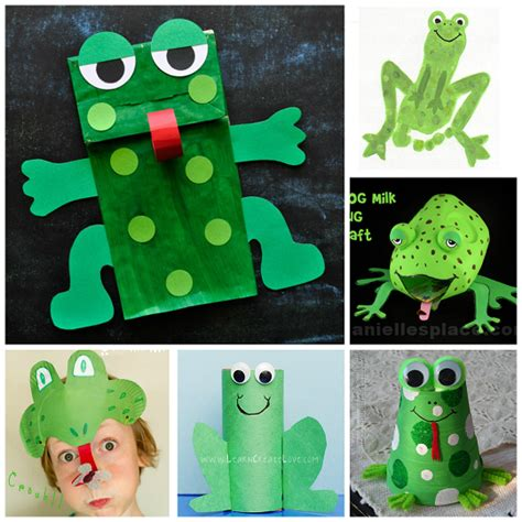 Frog Papercraft - frog crafts for to create crafty morning