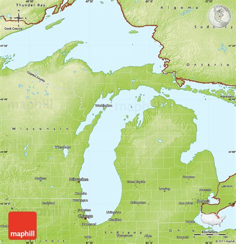 physical map of michigan physical map of michigan michigan map