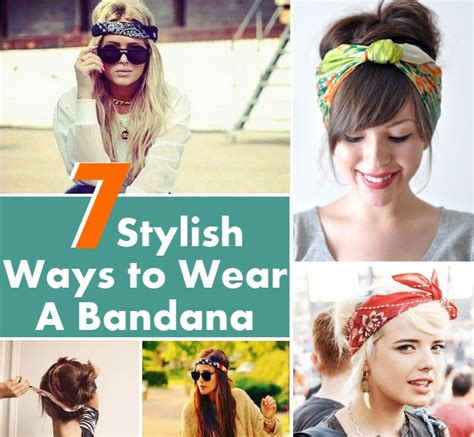 different ways to wear a bandana with short hair how to fold a bandanna on your head dark brown hairs