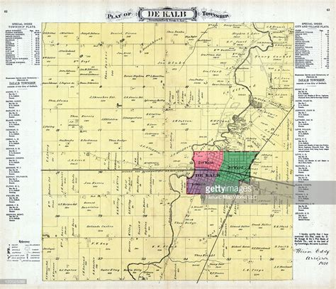 Dekalb County Il Search Illinois 1892 Dekalb Township Dekalb Dekalb County Stock Illustration Getty Images