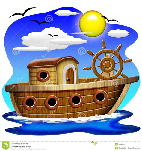 dessin animé bateau dessin anim 233 de bateau de p 234 che photographie stock image