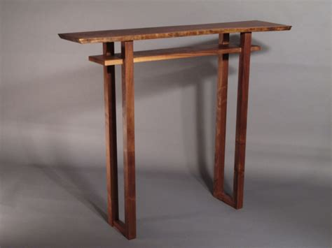 Small Bar Table Minimalist Modern Zen Small Bar Table In Walnut Cherry And Tiger Maple Handmade Custom