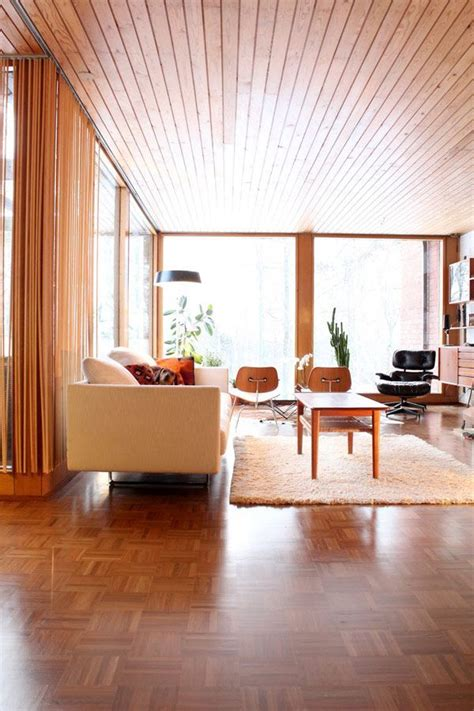 ek home interiors design helsinki i m thinking wood ceiling for the basement mid century
