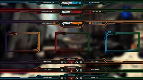 layout maker template pack free twitch overlay template pack 1 youtube