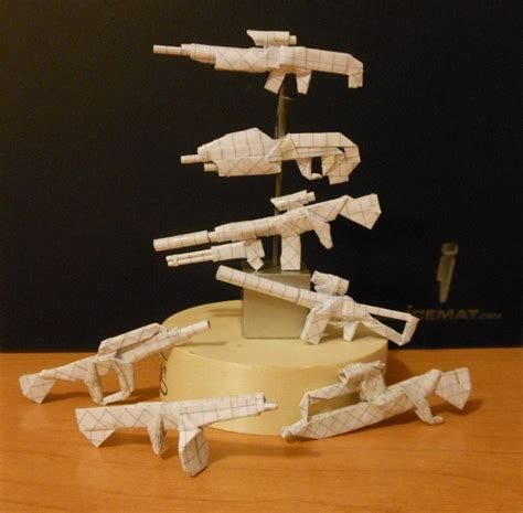 Origami Weapons - origami weapons 2 by solidmark on deviantart