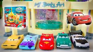 Lightning Mcqueen Car Wash Change Colors Cars Color Changers 2015 Series Lightning Mcqueen Disney
